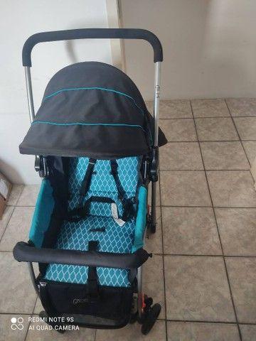 Carrinho de Bebê Berço Flip Azul Bb503 Multikids Baby - Foto 2