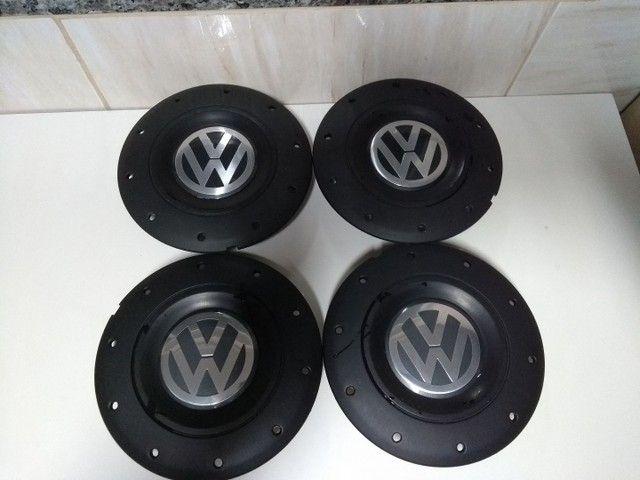 Jogo Calotas Modelo Amarok Rodas Ferro Volkswagen Aros 13/14/15 Furação 4x100. - Foto 2