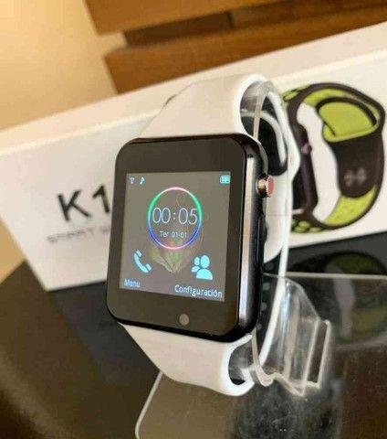 Relógio Smartwatch K1 Bluetooth e entrada para chip - Foto 2