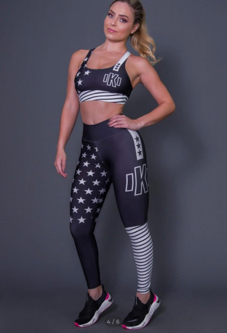 Conjuntos calça legging + top e short + top - Foto 2