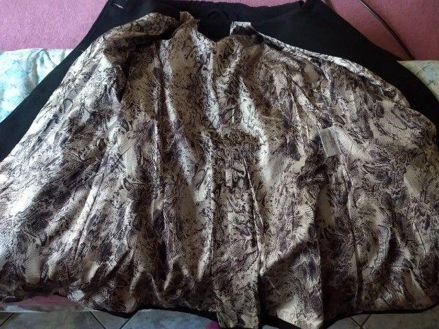 Casaco/sobretudo com detalhe cinto em lã - Foto 3