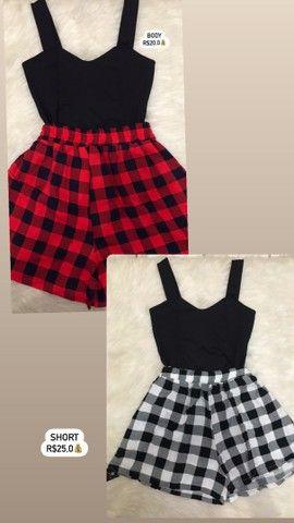 Blusas, vestidos, Croped xadrez - Foto 4