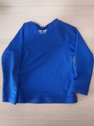 jaqueta Benetton+camiseta manga curta dinossauro+camiseta manga longa UV - Foto 5