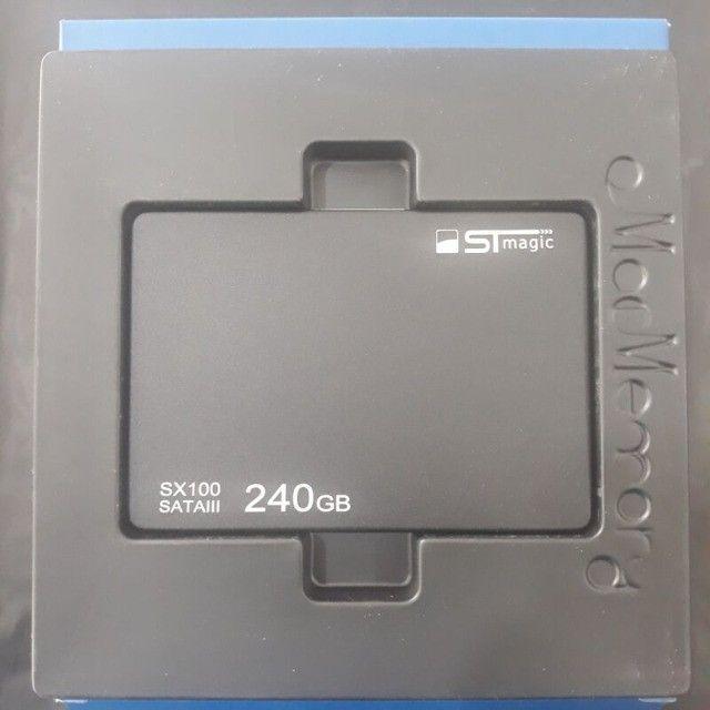 "Ssd 240GB STmagic sx100 Sata 3 2.5"" 6Gb/s Notebook Pc Computador Videogame - Foto 5"