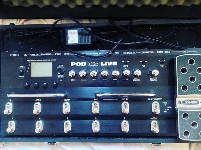 pedaleira line 6 pod x3 live instrumentos musicais vila sarapuí