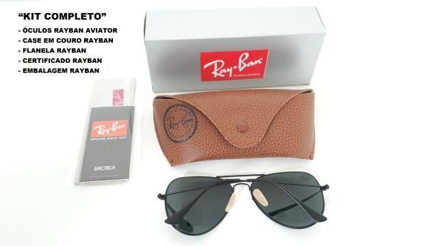 b047ec62b Óculos De Sol Aviador Ray Ban Rb3025 Preto Unissex - Bijouterias ...