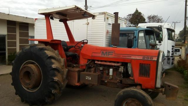 Trator agrícola MF 296 4x2 motor novo