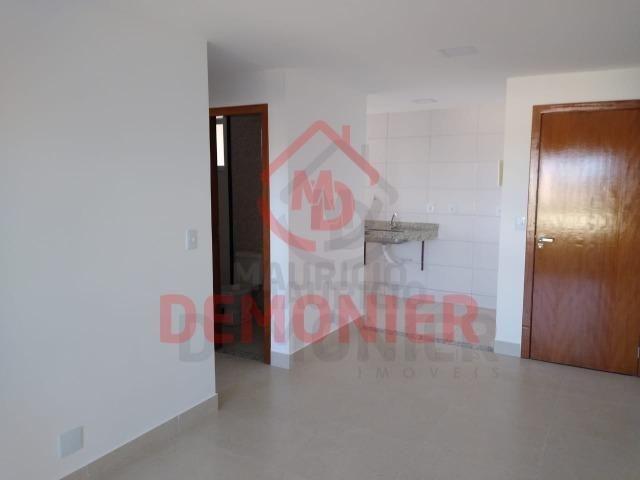 Alugo apartamento novo 2 quartos com suíte, 1 vaga, Campo Grande, com lazer - Foto 2