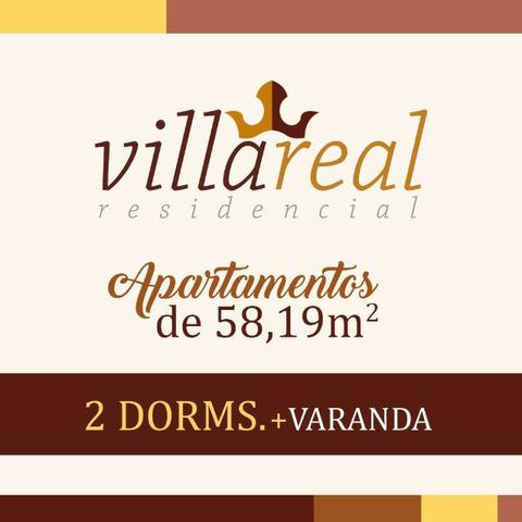 VillaReall Residencial Aptos 2 Dorms 58m2 2 Dorms 1 Vaga C/Varanda Lazer Completo - Foto 11