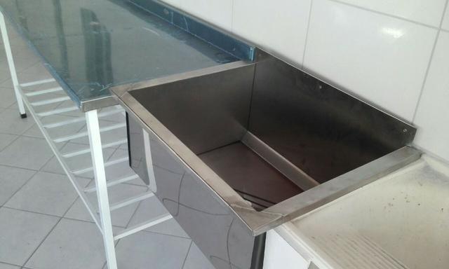 Bancadas em aço inox, tanques, pias, bojos de pia, mesas em inox - Foto 6