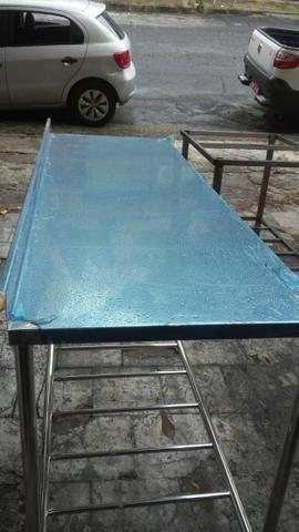 Bancadas em aço inox, tanques, pias, bojos de pia, mesas em inox - Foto 5