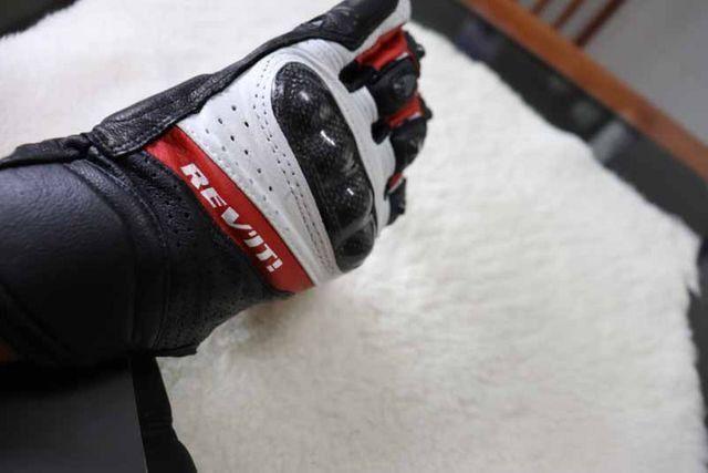 Luvas Rev'it - NOVA - tamanho M/G - L - Vermelho - Preto - Branco Em Couro - Foto 10
