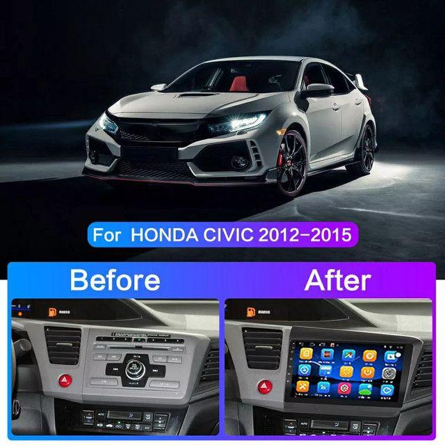 Kit multimídia civic 2012/2016 android 9.0 4core top Novo - Foto 3