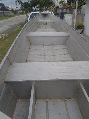 Vendo barco de Alumínio Usado