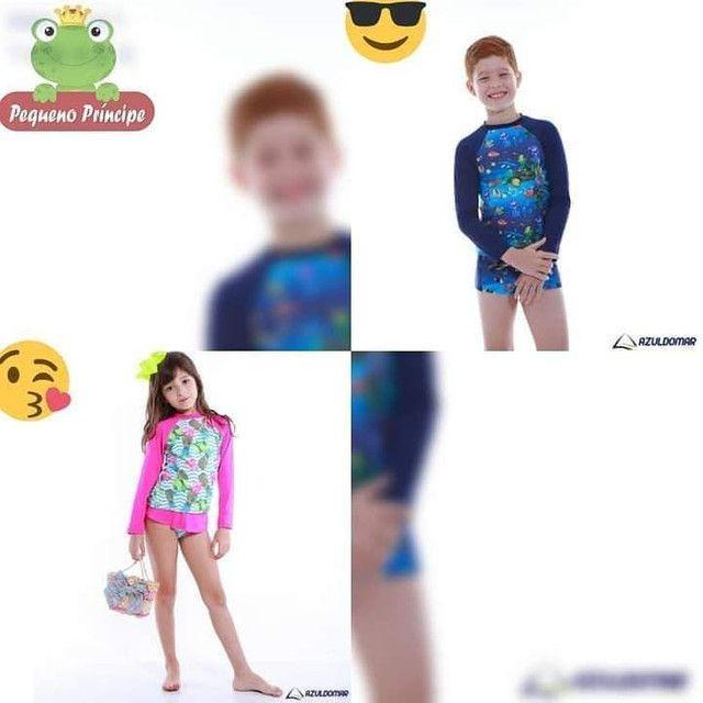 Conjunto infantil de proteção UV - Foto 2