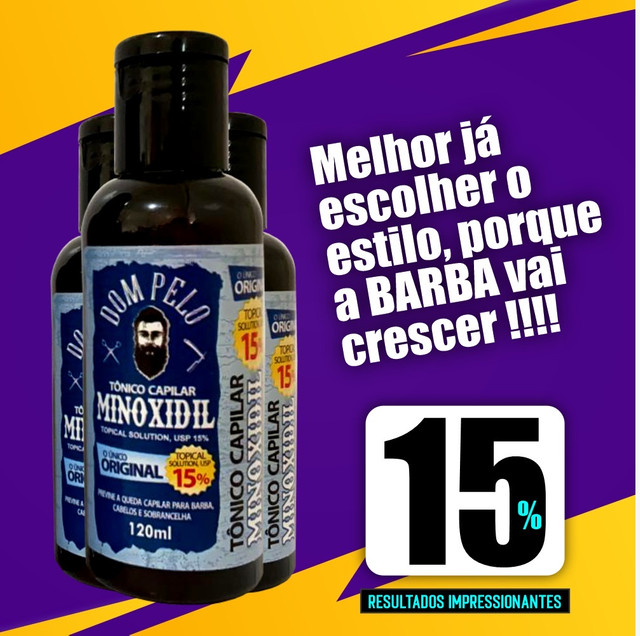 Tônico capilar Minoxidil 15%
