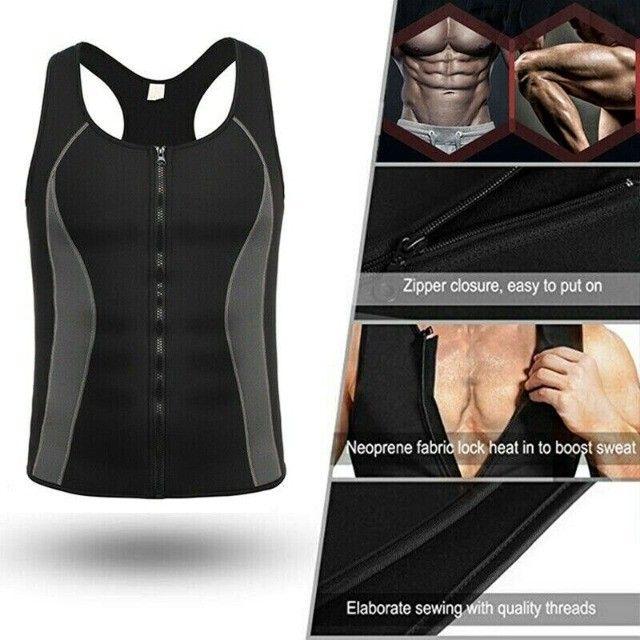 Camiseta Queima Gordura Calorias Camisa Exercícios Neoprene - Foto 4