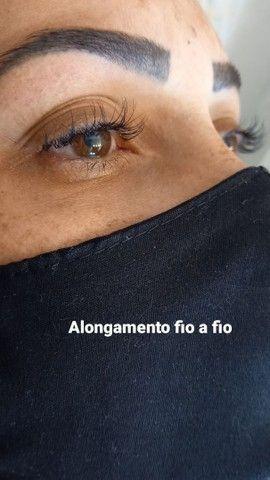 Designer de sobrancelhas Alongamento de cílios e makeup - Foto 5
