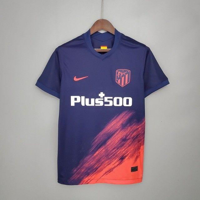Atlético de Madrid Espanha 2021 Lançamento Frete Grátis