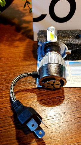 Par de Lampadas Super LED (BAIXOU!!) H1 H27 H3 H4 H7 HB3 HB4 H11 H8 H16 - Foto 3
