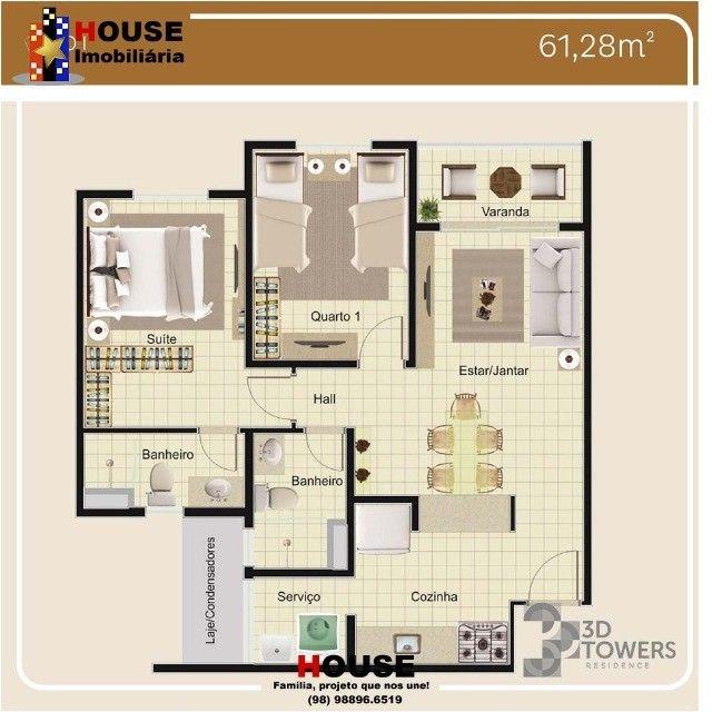 condomínio, 3D Towers_apto com suíte - Foto 8