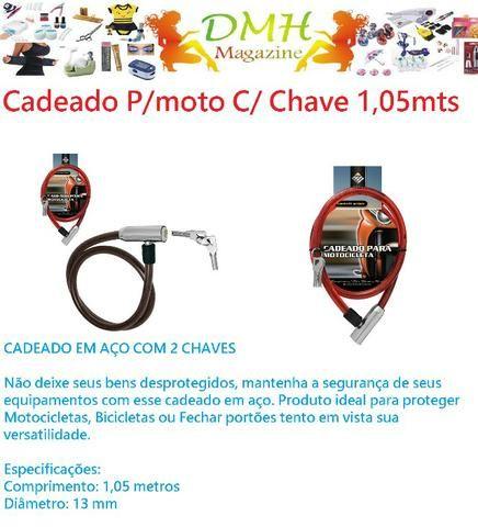 Cadeado C 2 Chaves Para Motocicleta, Bicicleta, Portão 13mm