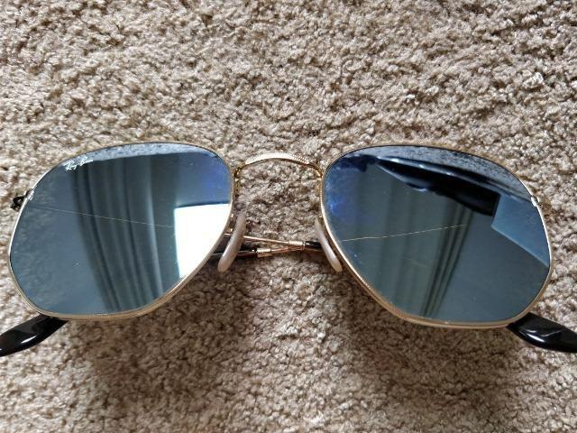 Óculos de Sol RayBan Hexagonal - Original Novo sem uso ... 4f8f4070d3