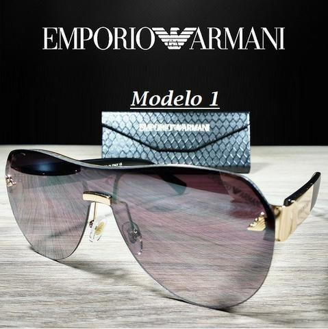 edfc36c0e8ba2 Óculos Unissex Emporio Armani 2032 Redondo com Proteção UV ...