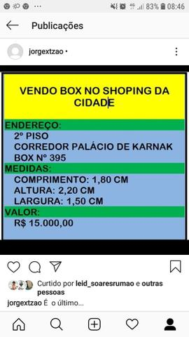 Vendo box no shoping da cidade. contato (86)9.9406.8873.