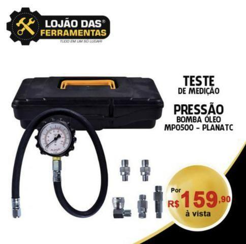 Teste de Medição da Pressão da Bomba de Óleo MPO500 - Planatc