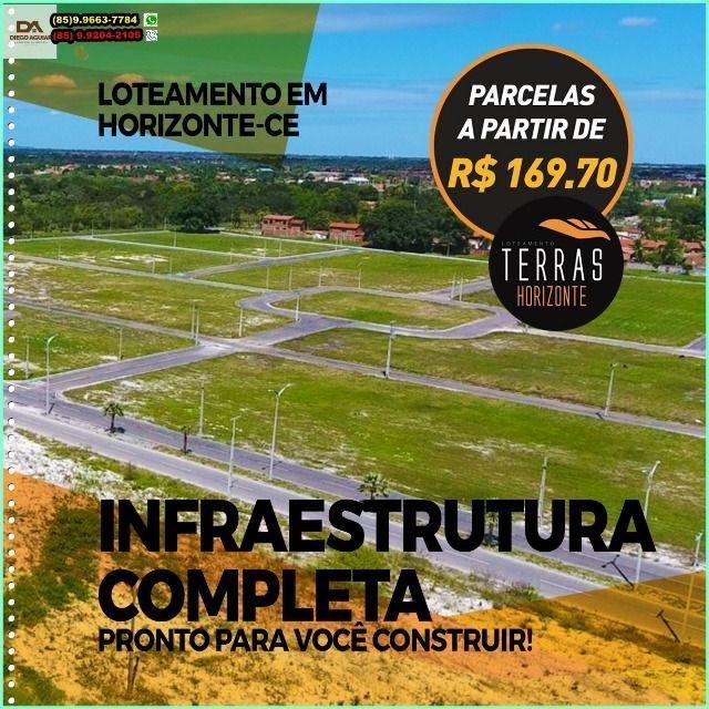 """R$169,70""""Loteamento em Bairro Planejado em Horizonte !"""