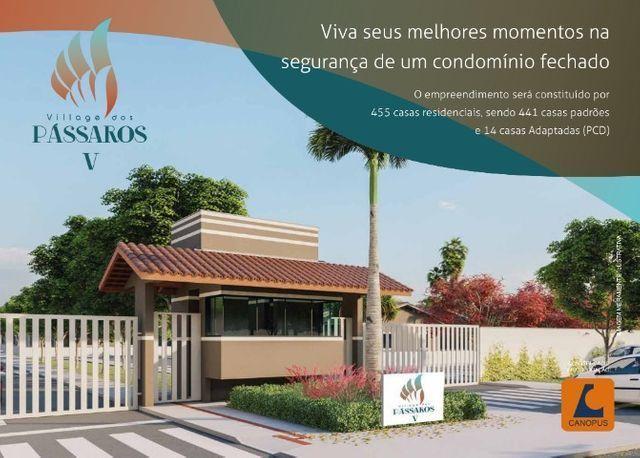 Village dos Pássaros V, Feirão Canopus ato de R$ 100,00. Casas na estrada de Ribamar - Foto 2