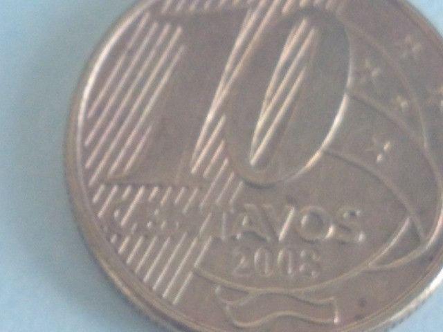 3  Moedas  Reverso Raras de 10 centavos 2001 e 2008 e 1994 reverso invertido