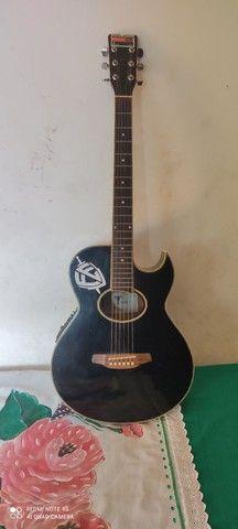 Vendo violão Eagle gl36 elétrico - Foto 4