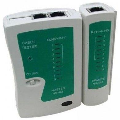 Testador De Cabos De Telefonia E Rede Rj45 Rj11 Teste De Crimpagem De Rede Lan
