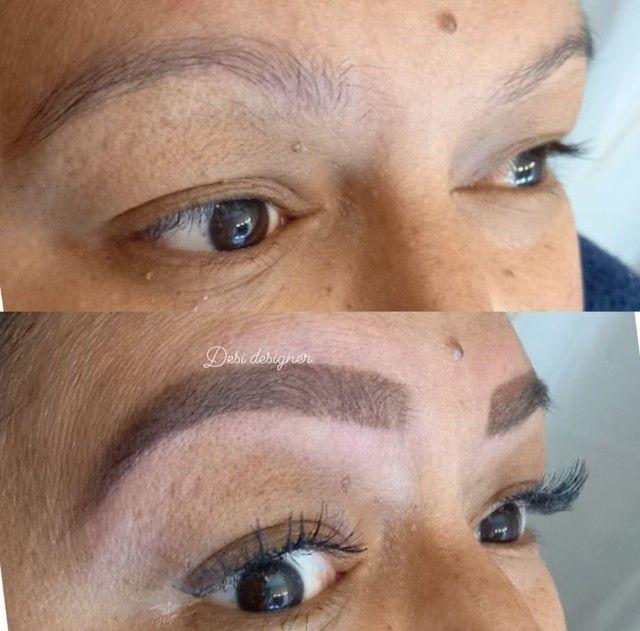 Designer de sobrancelhas Alongamento de cílios e makeup - Foto 2
