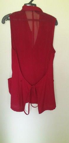 8 Camisa vermelha Cenarium Tam M - Foto 2