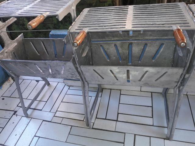Churrasqueira extra fechada de aluminio fundido