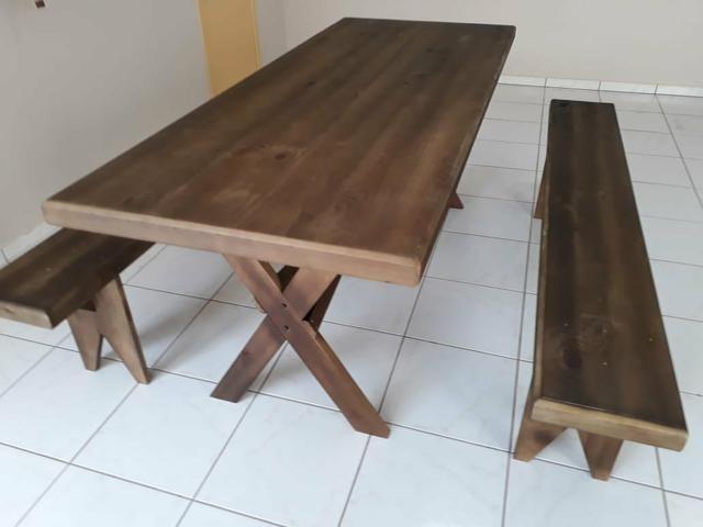 Mesa com bancos para churrasco - Foto 2
