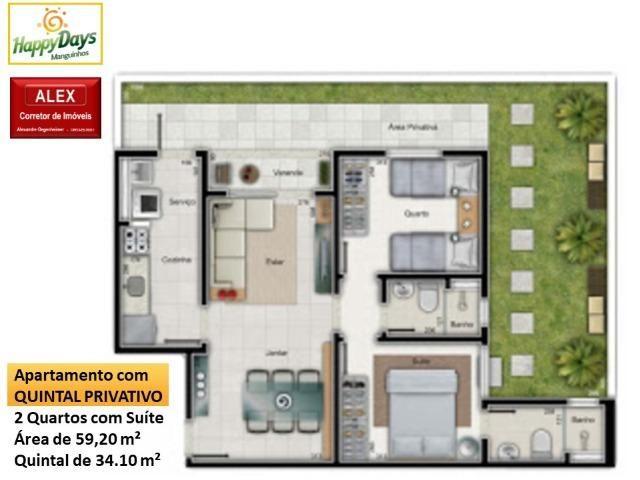 ALX - 01 - Happy Days - Apartamento 2 Quartos/Suíte - Morada de Laranjeiras - Foto 8