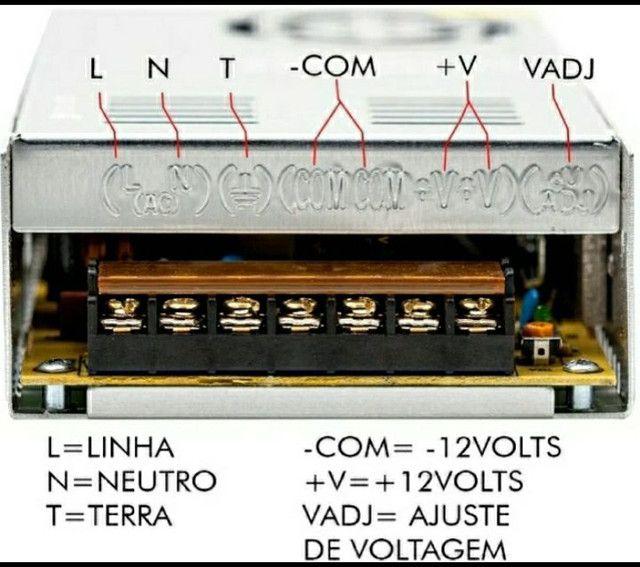 Fonte 50a Colmeia 600w 12v Atacadão Eletro Caixa Bob Som Automotivo Fita Led  Som Cftv - Foto 2