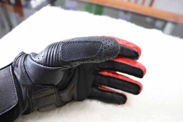 Luvas Rev'it - NOVA - tamanho M/G - L - Vermelho - Preto - Branco Em Couro - Foto 16