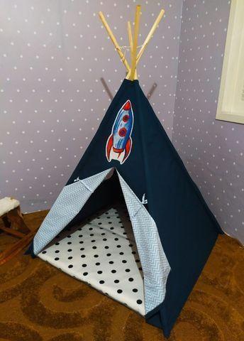 Cabana Infantil Barraca Tenda Com Colchonete Carrinho Novo - Foto 2