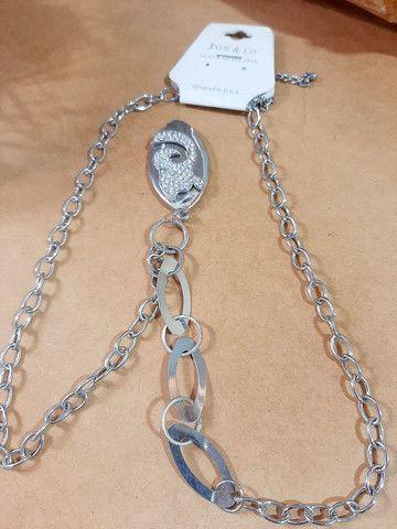Colar cordão  semi joia importada  jade &co - Foto 2