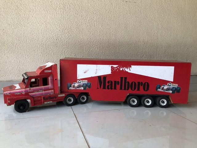 Caminhão Scania madeira boiadeiro RELÍQUIA! brinquedo - Foto 4