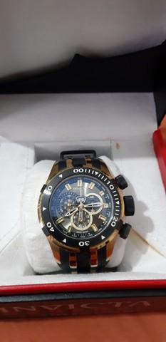 Relógio Invicta Bolt 0980 Masculino Banhado Ouro - Foto 3