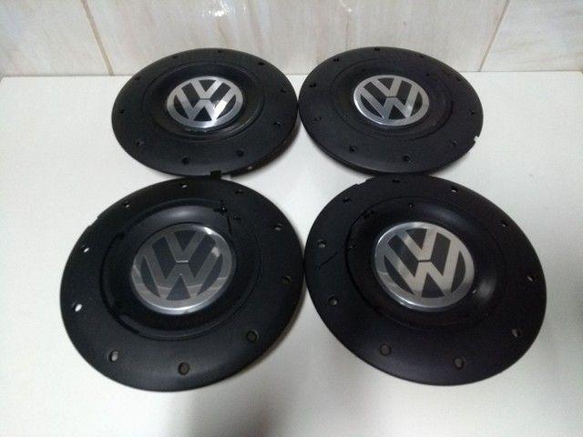 Jogo Calotas Modelo Amarok Rodas Ferro Volkswagen Aros 13/14/15 Furação 4x100. - Foto 3