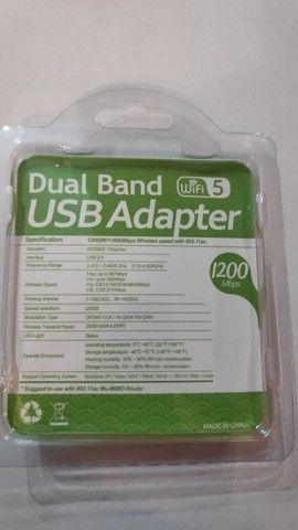 Adaptador Wi-Fi USB 2.0 Dual Band 1200mps - Foto 2