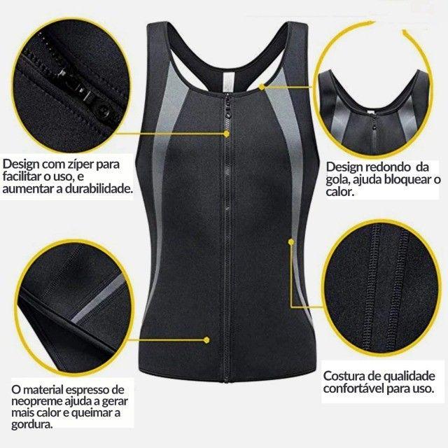 Camiseta Queima Gordura Calorias Camisa Exercícios Neoprene - Foto 5