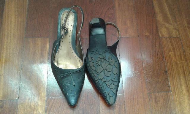 340bb197bc Sapato feminino ramarin salto baixo e bico fino. tam 38 - Roupas e ...
